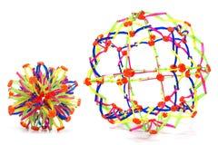 可折叠彩虹颜色球形 免版税图库摄影