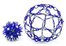可折叠紫色和绿色球形 免版税图库摄影