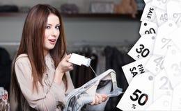 可接受的价格在全面销售的时候 免版税库存照片