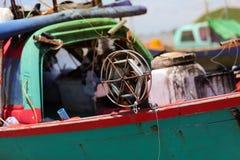 可撤回的渔网的卷轴 免版税库存照片