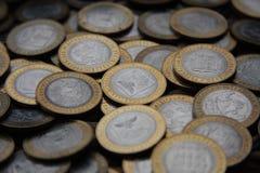 可收回的硬币10卢布 库存图片