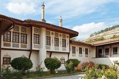 可汗的宫殿大厦在Bakhchisaray,克里米亚 库存照片