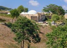 可汗` s浴在纳伦Kala堡垒 Derbent 免版税库存照片