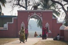 可汗bagerhat的,孟加拉国Jahan阿里坟茔清真寺  库存图片