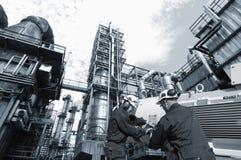 可燃气体安装油 库存照片