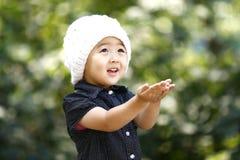 可爱中国的女孩 库存照片