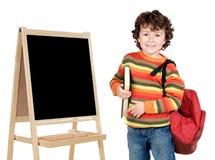 可爱儿童学习 免版税库存图片