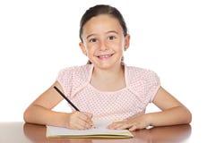可爱女孩学习 免版税库存图片