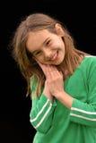 可爱女孩微笑 免版税库存照片