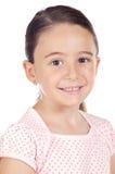 可爱女孩微笑 免版税库存图片