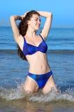 可爱比基尼泳装的女孩 库存图片