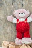 可爱玩具熊走 免版税库存照片