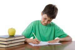 可爱男孩学习 免版税库存照片