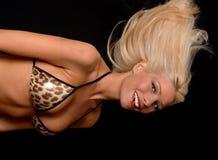 可爱白肤金发的女孩 免版税库存照片