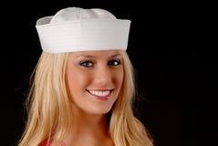 可爱白肤金发的女孩 库存图片