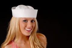 可爱白肤金发的女孩 库存照片