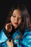 可爱的东方女孩 图库摄影