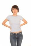 可爱的亚裔妇女 免版税库存图片
