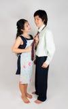 可爱的亚裔泰国配偶 库存照片