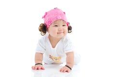 可爱的亚裔婴孩 库存图片
