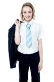 年轻可爱的企业女孩 图库摄影