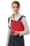 可爱的企业女实业家愉快的woma年轻人 库存照片