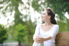 可爱的健康亚裔妇女 免版税库存照片
