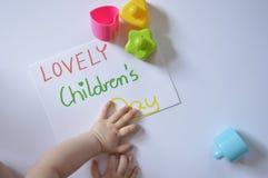 可爱的儿童的天 免版税库存图片