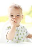 可爱的儿童纵向 图库摄影