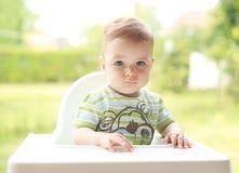 可爱的儿童纵向 免版税库存图片