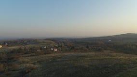 可爱的匈牙利村庄空中射击 股票录像