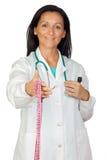 可爱的医生评定提供的磁带 免版税库存图片