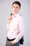可爱的十六岁的青少年的男孩 免版税库存图片