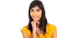 可爱的印第安妇女 免版税图库摄影