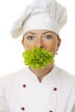 可爱的厨师妇女 图库摄影
