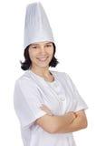 可爱的厨师妇女 免版税图库摄影