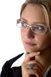 可爱的去查找的妇女 免版税库存图片