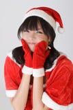 可爱的圣诞节女孩 图库摄影