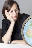 可爱的地球妇女 免版税库存照片
