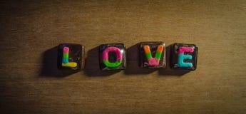 可爱的场合的华伦泰可爱的巧克力 免版税图库摄影