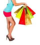 可爱的夫人Shopping 库存图片