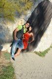 可爱的夫妇印地安人 免版税库存照片