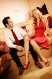 可爱的夫妇富有 免版税库存图片
