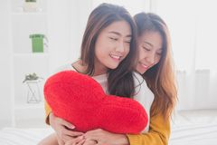可爱的女同性恋的一起夫妇概念 少妇hu夫妇  免版税库存照片
