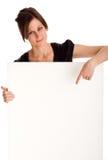 可爱的女商人 免版税库存图片