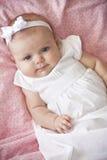 可爱的女婴纵向 库存照片