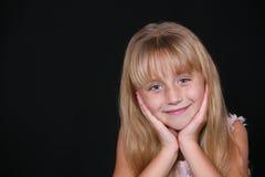 可爱的女孩一点 免版税库存照片