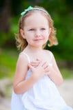 可爱的女孩少许纵向 免版税库存照片