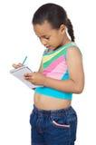 可爱的女孩文字 免版税库存图片