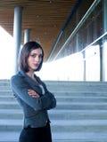 可爱的女实业家专业年轻人 免版税库存照片